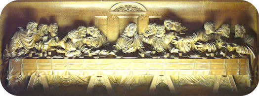 Carving depicting the Last Supper